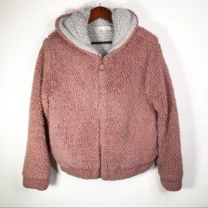 Sweet Rain Dusty Pink Sherpa Jacket Medium